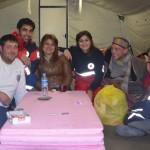 4 red halfmoon tent