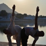 9 yoga with ansu at pushkar lake