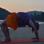 4 yoga at sunset at the beach