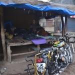 22 sleeping at a chaishop on the way to mahabaleshwar