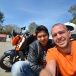 Karan and me at the border