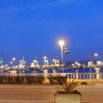 8 arrival in Algeciras - in the background Gibraltar