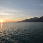 approaching Koh Chang at sunrise