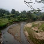 morning at a tiny remote village