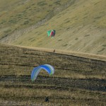 first flights at the practice hill on monday evening